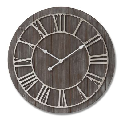 Roman Wall Clock Wood and Nickel