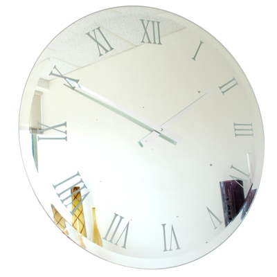 Roco Verre Bevelled Mirror Wall Clock 65cm & 85cm