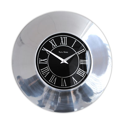 Roco Verre Black Latin Roman Orion Wall Clock