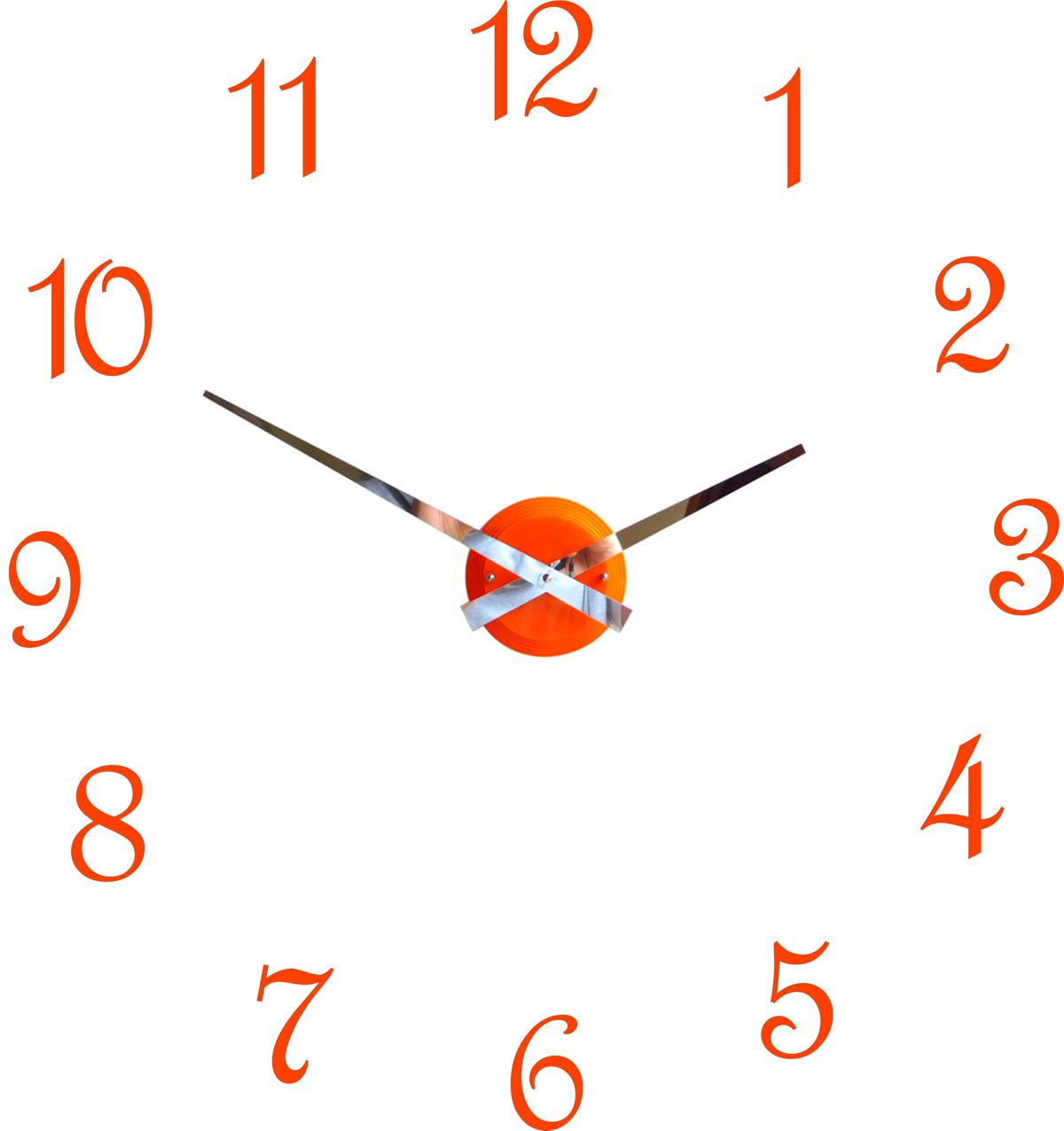 Roco Verre Orange Gloss Luna Hand Clock