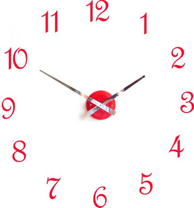Roco Verre Red Gloss Luna Hand Clock
