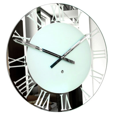 Roco Verre Roman Small Frosted Clock
