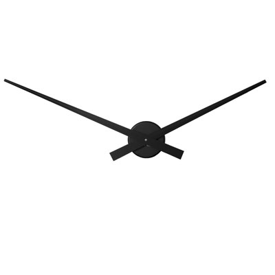 Roco Verre Big Hands Black NOIR Clock