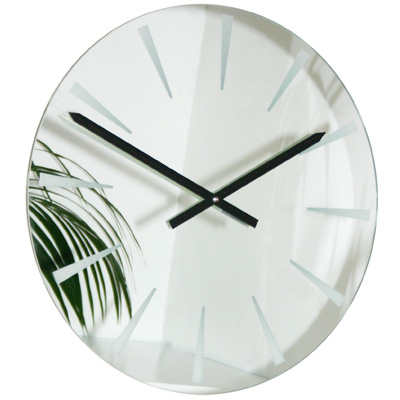Modern Wall Clocks At Contemporary Heaven Mirror Clocks Uk