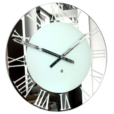 Rock Verre Frosted Clock