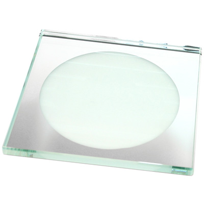 Roco Verre Eclipse Square Frosted Mirror Coaster