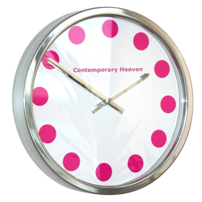 Roco Verre Cerise Coloured Spot Clock