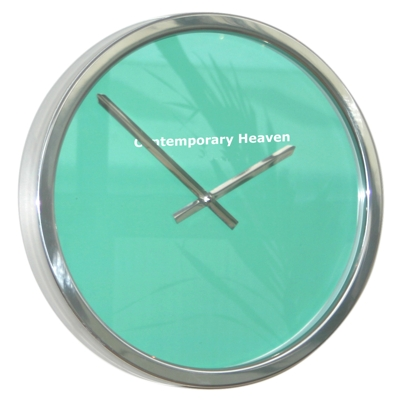 Roco Verre Mint Green Block Colour Clock