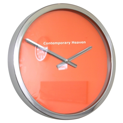 Roco Verre Orange Block Colour Clock