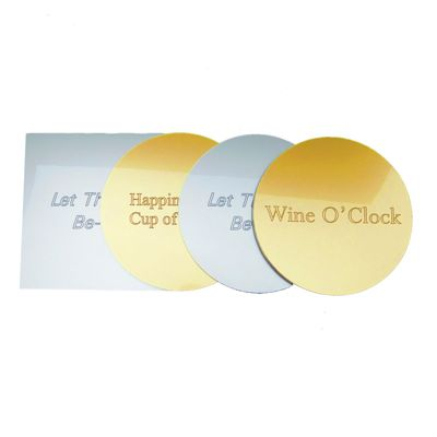 Personally Engraved Metallic Acrylic Coaster Sets