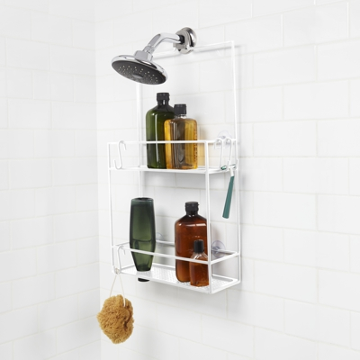 Umbra Cubiko 2 Tier Shelf Shower Caddy White