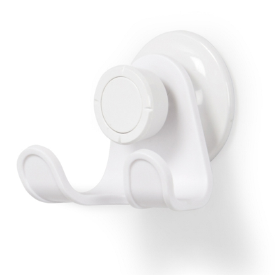 Umbra Flex Gel Lock Suction Double Hook White