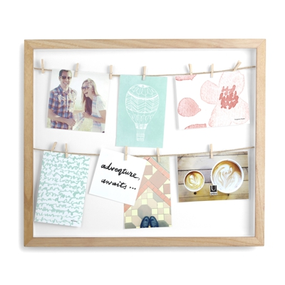 Umbra Clothesline Shadowbox Frame Natural