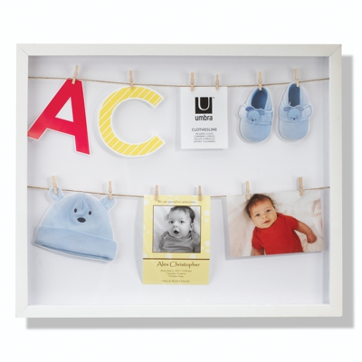 Umbra Clothesline Shadowbox Frame White