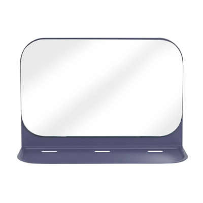 Umbra Pose Wall Shelf and Mirror Indigo