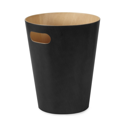 Umbra Woodrow Waste Bin Black