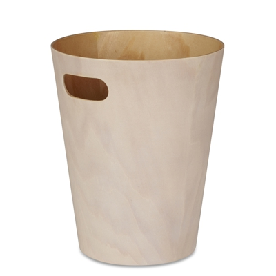 Umbra Woodrow Waste Bin White