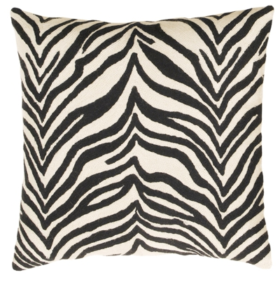 Zaida Black and White Zebra Cushion 18""