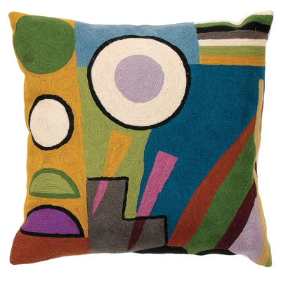Zaida Handmade Kandinsky Abstract World Cushion