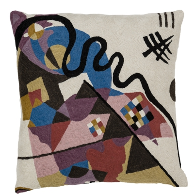 Zaida Handmade Kandinsky Blue Cushion