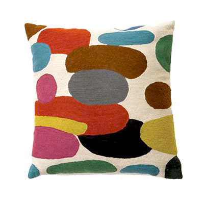 Zaida Handmade Multicolour Pebble Cream Cushion