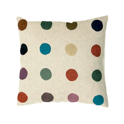 Zaida Handmade Multicolour Spots Cream Cushion