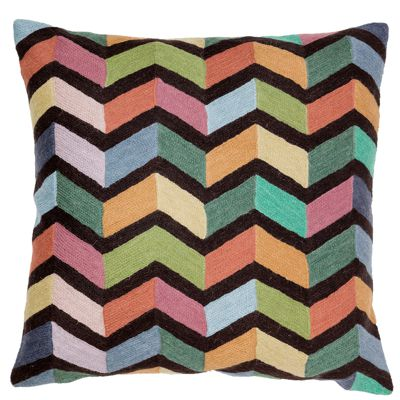 Zaida Illusion Multi Colour Cushion 18""