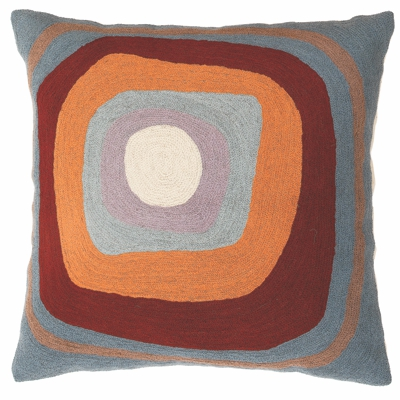 Zaida Kandinsky Elipse Blue Cream Cushion 18""