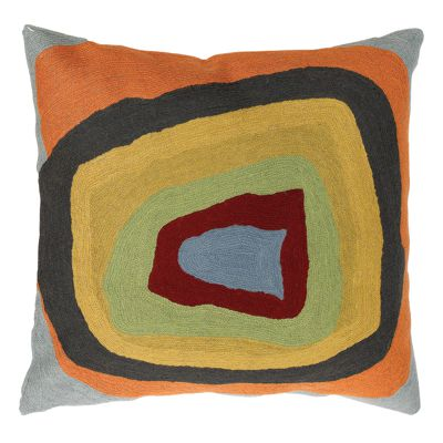 Zaida Kandinsky Elipse Light-Dark Blue Cushion 18""