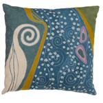 Zaida Klimt Peacock Swirl Cushion 18""
