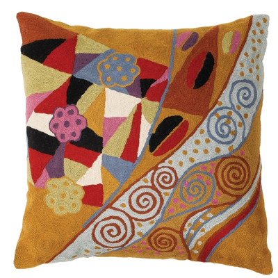 Zaida Klimt Waterfall Cushion 18""