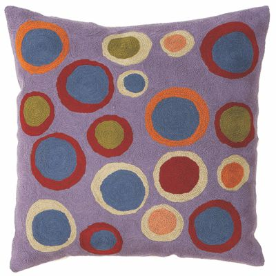Zaida Lilac Bubbles Cushion 18""