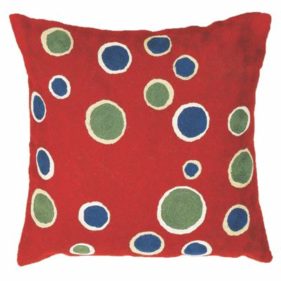 Zaida Red Bubble Cushion 24""