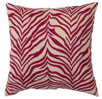 Zaida Red Zebra Cushion 18""