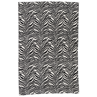 Zaida Black and White Zebra Rug