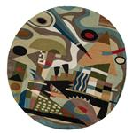 Zaida Kandinsky Abstraction Round Rug
