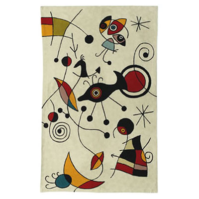 Zaida Miro Kite Flying Cream Rug