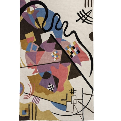 Zaida Kandinsky Blue Abstract Rug