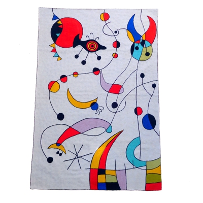 Zaida Miro Kite Flying Grey Rug