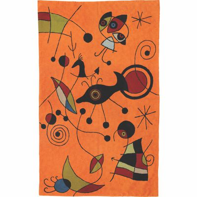 Zaida Miro Kite Flying Orange Rug