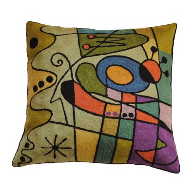 Zaida Kandinsky Purple Carnival Cushion 18""