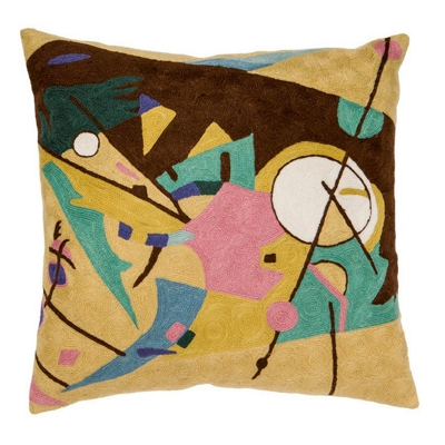 Zaida Kandinsky Abstract Time Cushion 20""