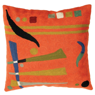 Zaida Kandinsky Orange Abstract Cushion 18""