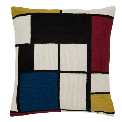 Zaida Mondrian Quadri Art Cushion 18""