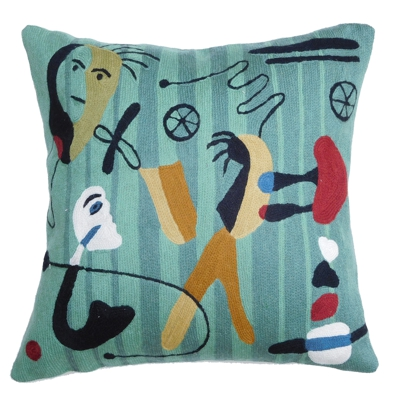 Zaida Picasso Faces Cushion 18""