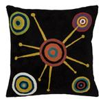 Zaida Stellar Black Cushion 18""