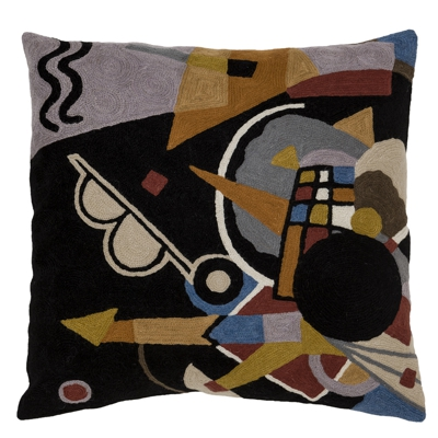 "Zaida Abstract Waves Cushion 18""  45cm x 45cm (18 x 18 inches)"