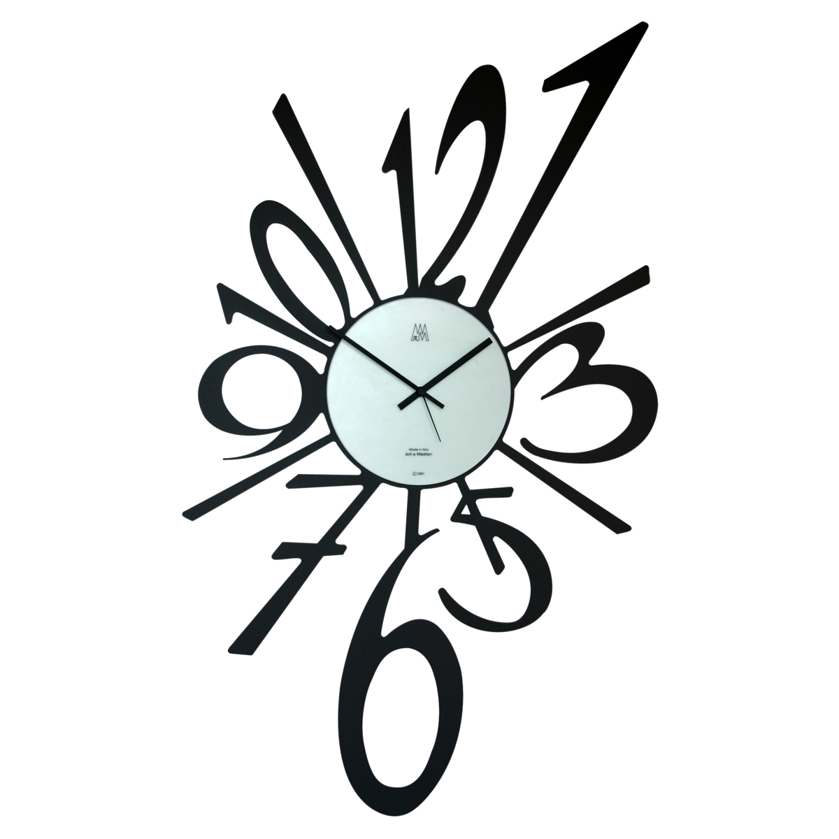 Arti & Mestieri Big Bang Clock Black H55cm x W31cm