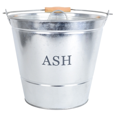 Galvanised Ash, Kindling and Coal Fireside Buckets Ash Bucket ONLY H30cm D32cm