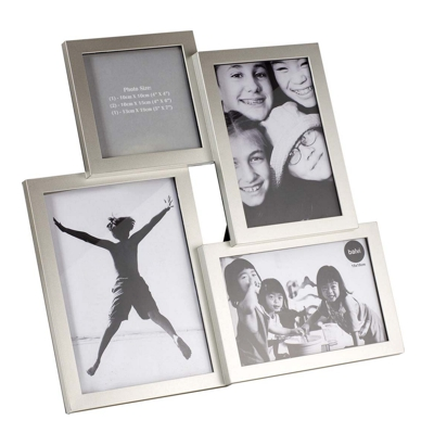Balvi Isernia 4 Multiple Photo Frame Silver 30.5 x 30.5cm Photos 4 Various Sizes
